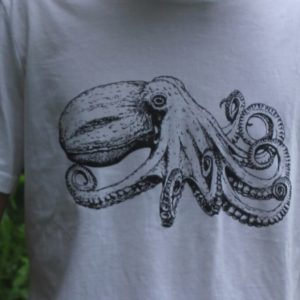 Octopus t-shirt detail