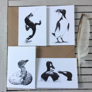 Great Auk Art Cards