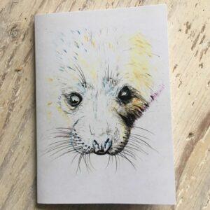 Grey Seal Pup Pocket Notebook
