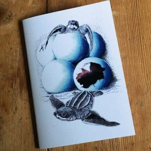 hatching leatherback turtle pocket notebook