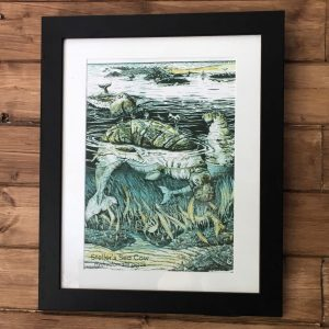 Steller's sea cow art print