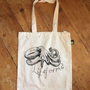 Curled Octopus Organic Cotton Tote Bag