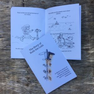 children's leatherback turtle story book to colour